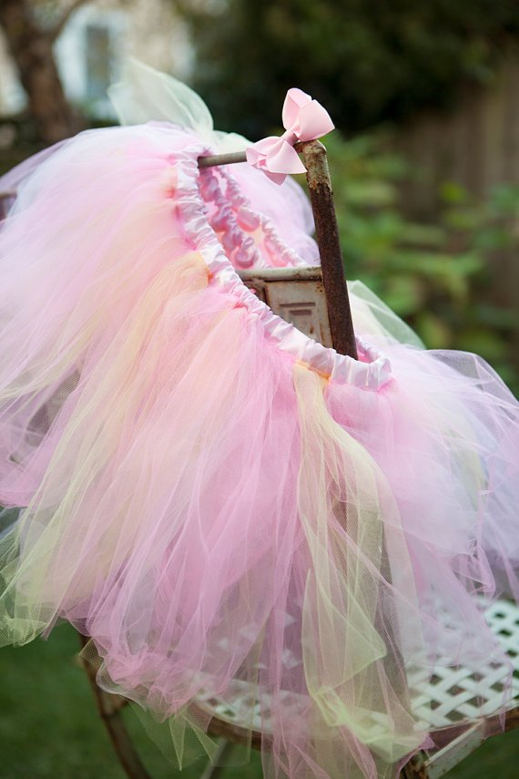 Ballerina Party Favors-Tule Tutus and Pink Grosgrain Ribbon Hair Bows