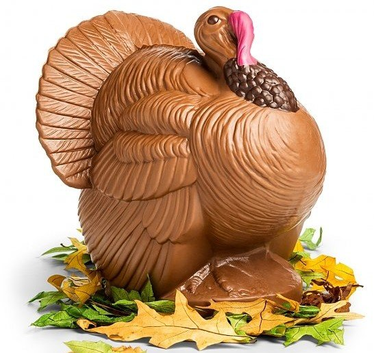 Bissingers Chocolate Turkey Centerpiece, Edible Thanksgiving Centerpieces