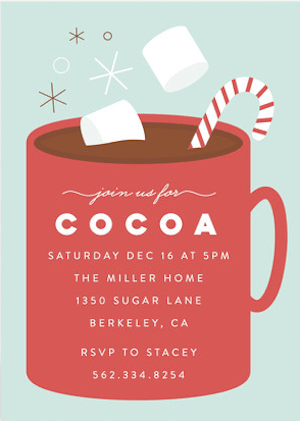 Cocoa Party Holiday Party Invitations
