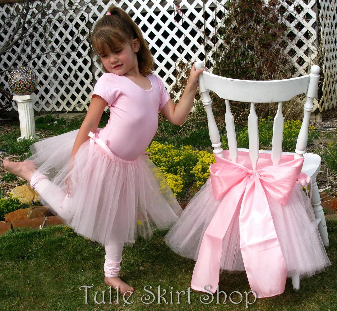 Convertible Pink Tutu Chair Skirt