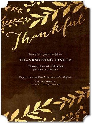 Dazzling Gratitude Thanksgiving Invitations