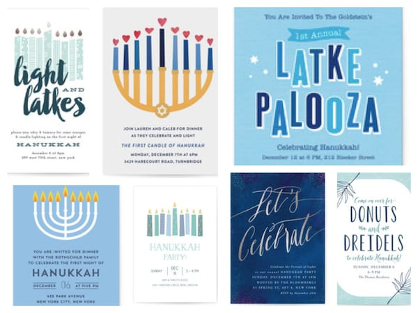 Free Online Hanukkah Party Invitations
