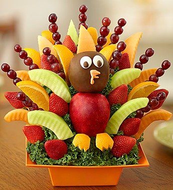 Fruit Turkey Thanksgiving Centerpiece, Edible Thanksgiving Centerpieces