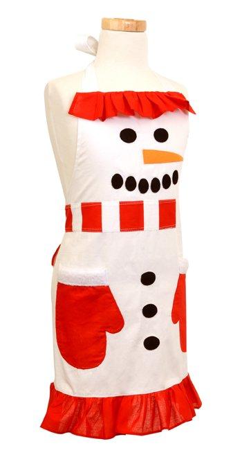 Girls Snowman Apron