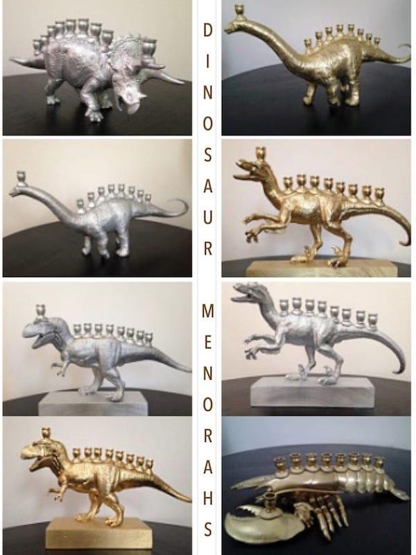 Hanukkah Dinosaur Menorahs