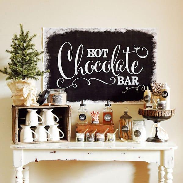 Hot Chocolate Bar Printables