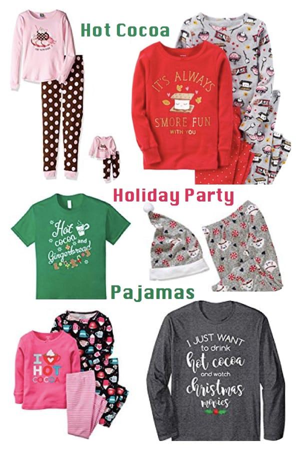 Hot Cocoa Holiday Party Pajamas