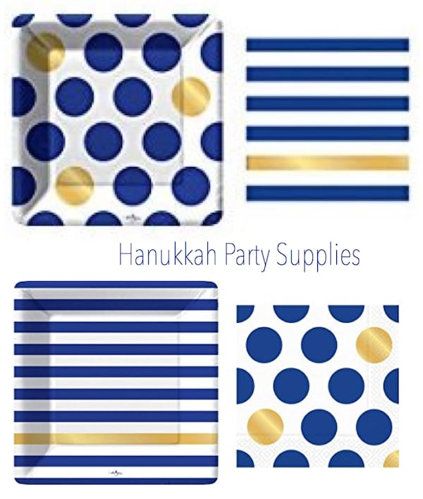 Kenzi Navy and Gold Hanukkah Party Supplies