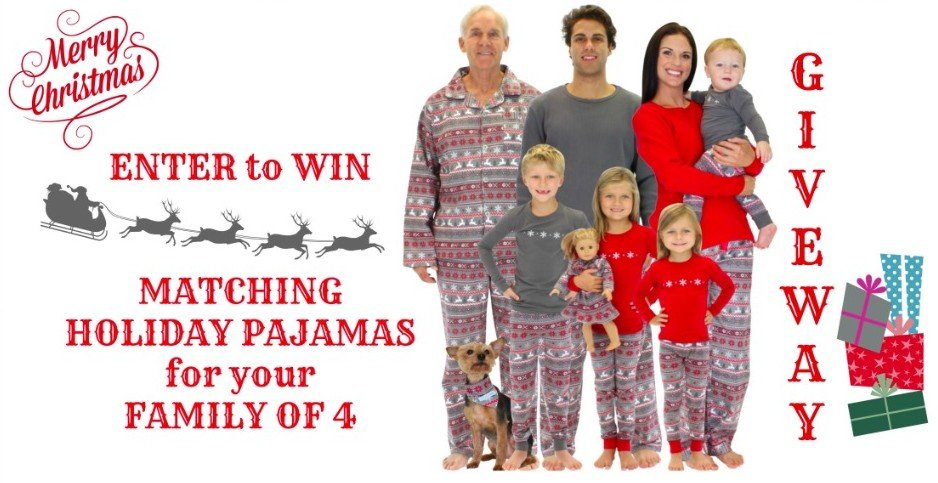 Matching Family Holiday Pajama Giveaway