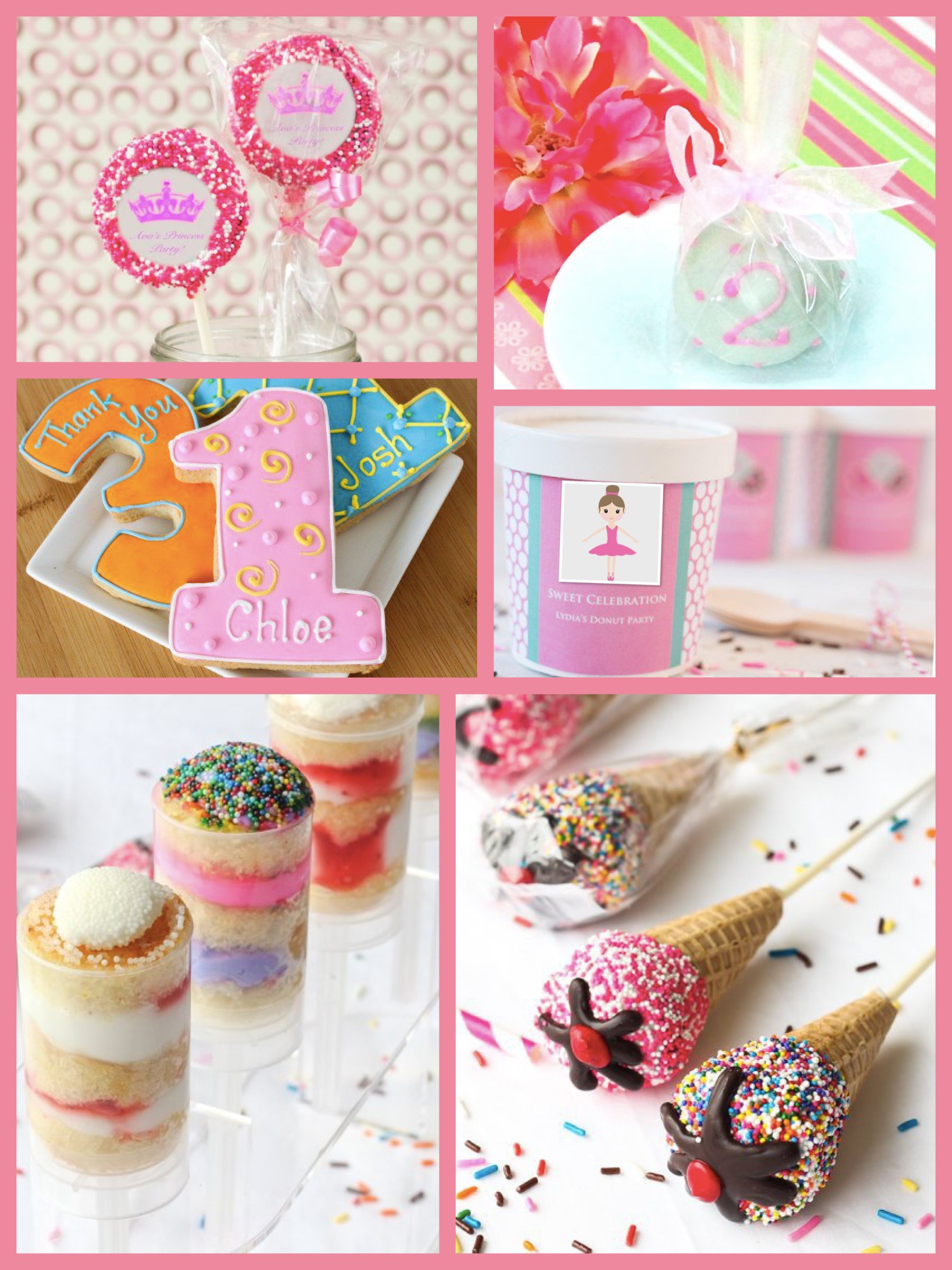 Pink Ballerina Party + Food Favor Ideas