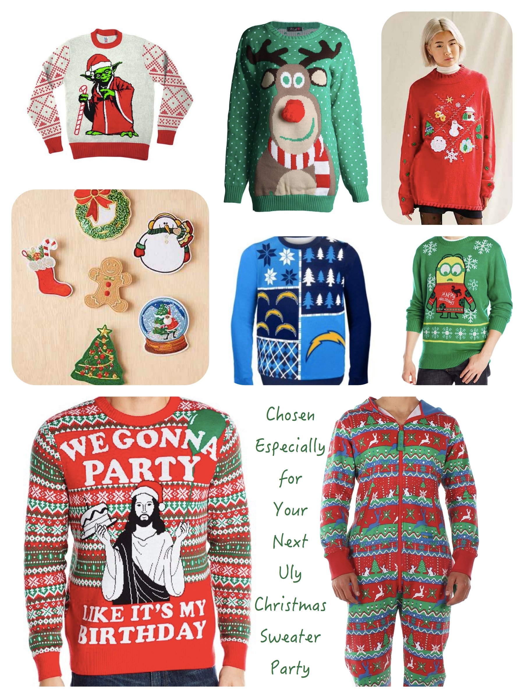 Ugly Chrismtas Sweater Party Sweaters