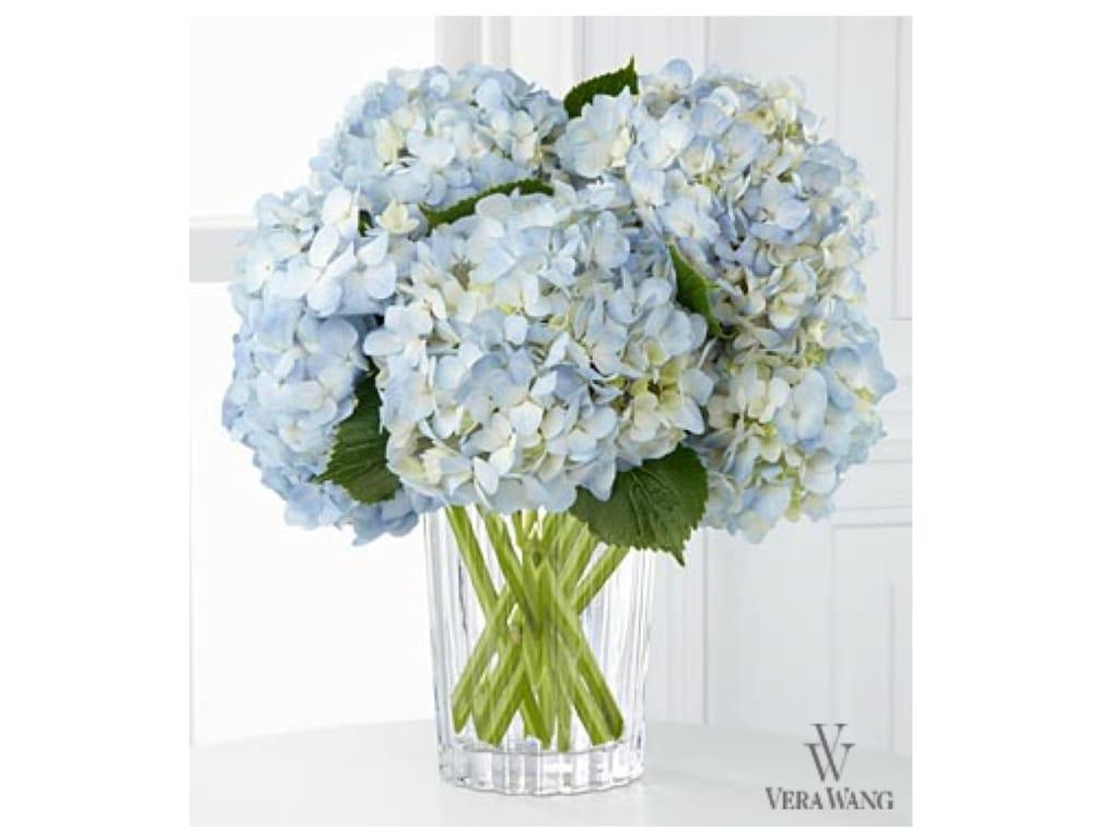 Vera Wang Blue Floral Centerpiece Hanukkah