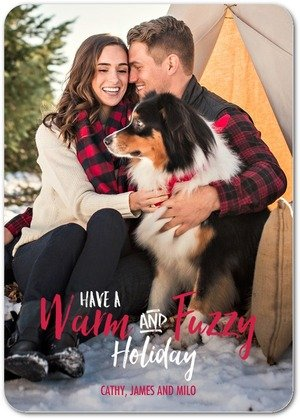 Warm and Fuzzy Pet Holiday Cards