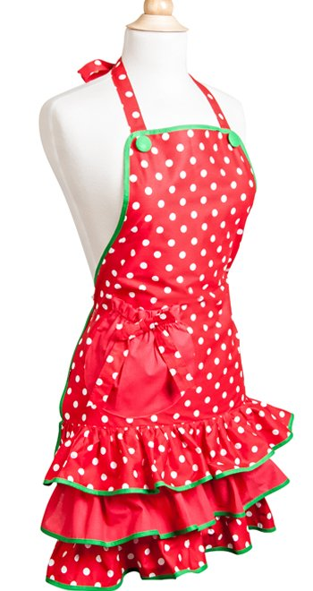 Womens Apron Holiday - Deck the Halls