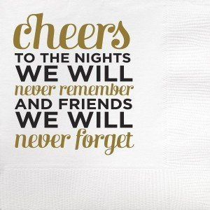 Beverage Napkin – Never Forget