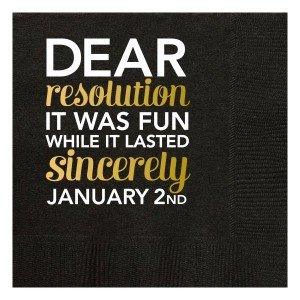 Black Dear Resolution Beverage Napkins