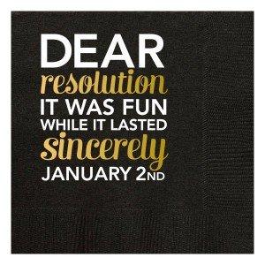 Black Dear Resolution Beverage Napkins
