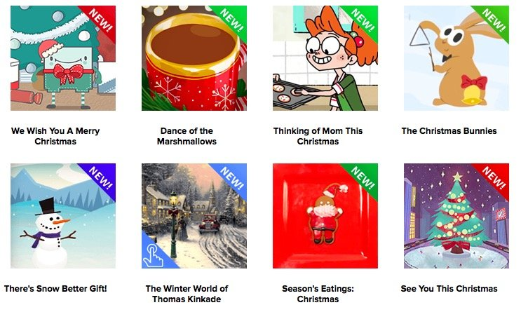 CHRISTMAS ECARDS and GREETING CARDS