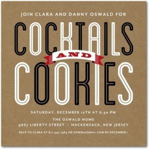 Cocktails and Cookies Holiday Party Invitation