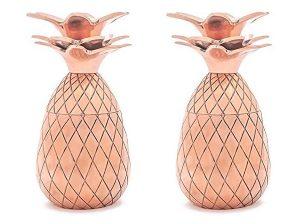 Copper Pineapple Tumblers & Shot Glasses