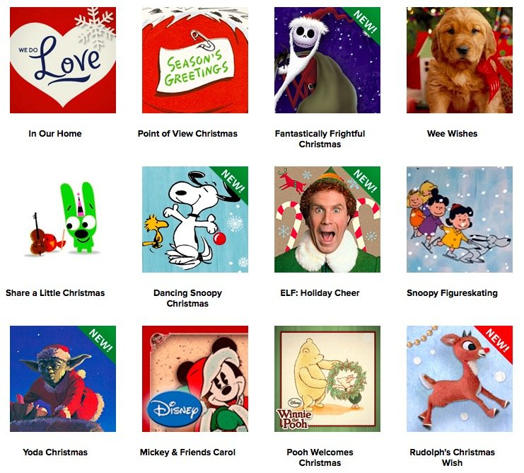 Hallmark CHRISTMAS ECARDS GREETING CARDS