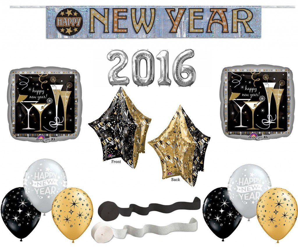 Happy New Years 2016 Deluxe Decorating Kit