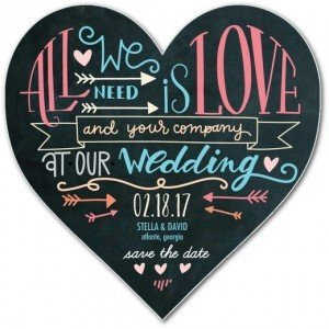 Heart Shaped Save the Dates