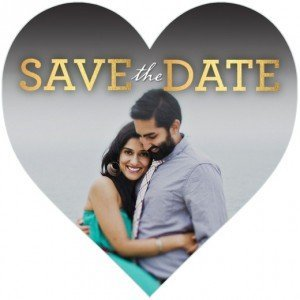 Heart Shaped Wedding Save the Dates