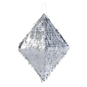 Metallic Silver Pinata