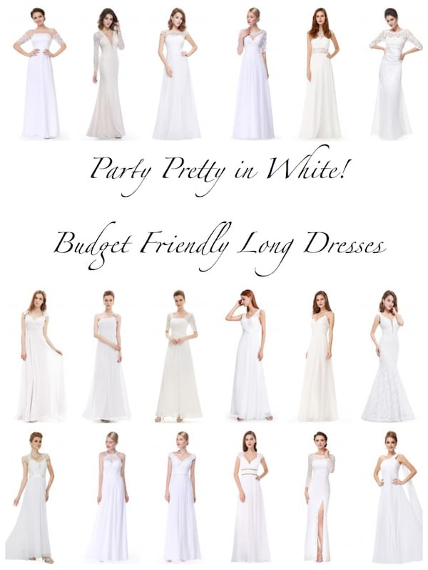 Party Pretty in Budget Friendly White Long Dresses