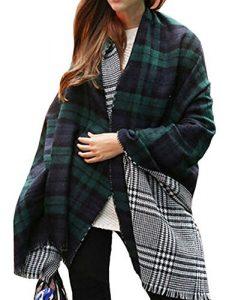 plaid-scarf-shawl-cape-blanket