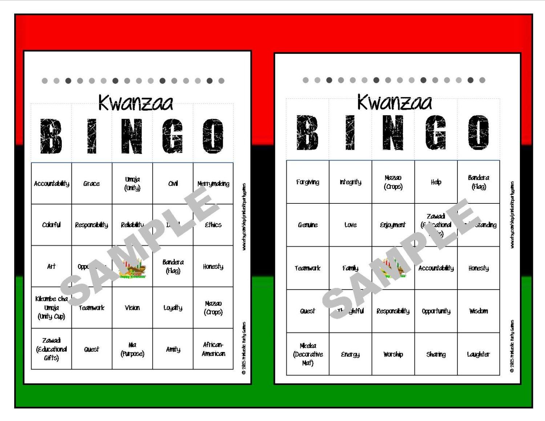 Printable Kwanzaa Bingo