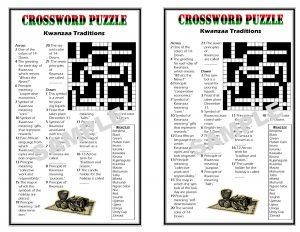 Printable Kwanzaa Crossword Puzzles