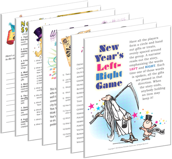 Printable New Years Eve Games