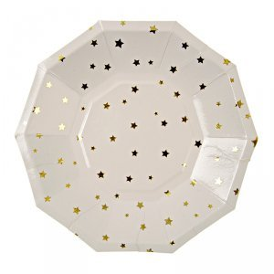 Toot Sweet Gold Star Pattern Small Plates