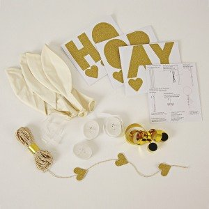 White Glitter Balloon Kit