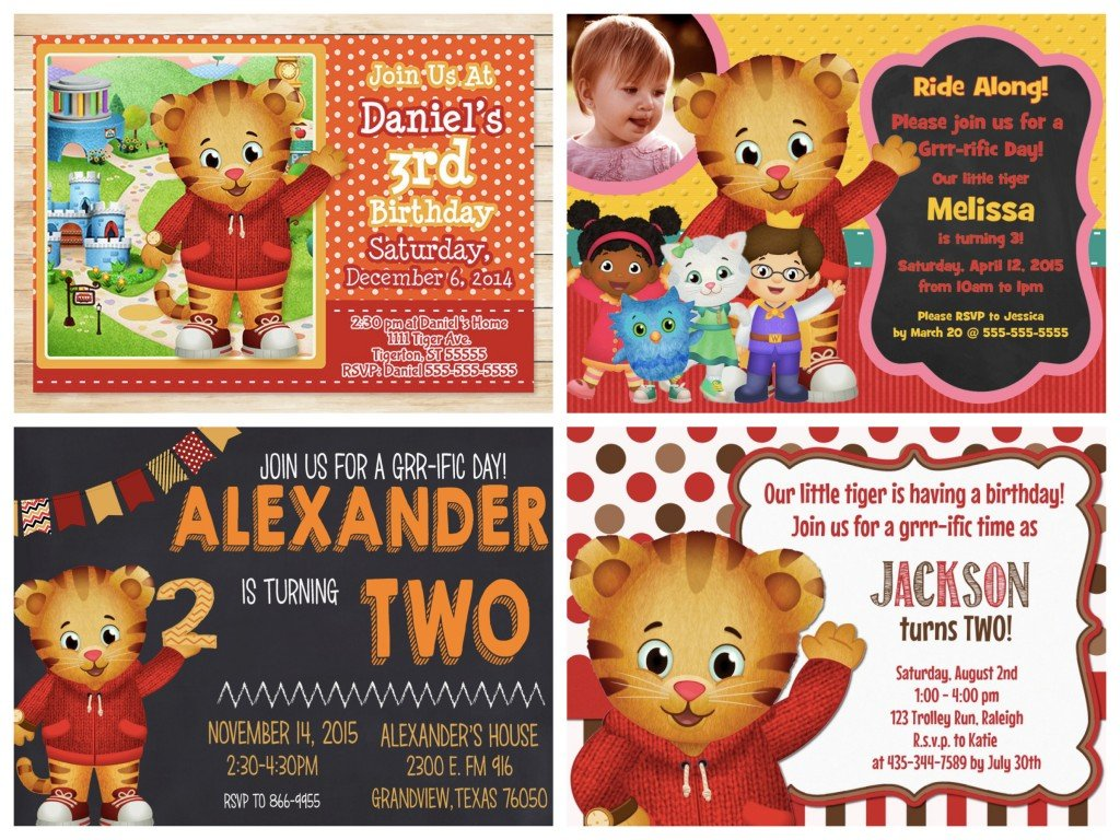 Daniel Tiger Invitations