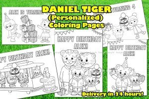Daniel Tiger Personalized Coloring Pages