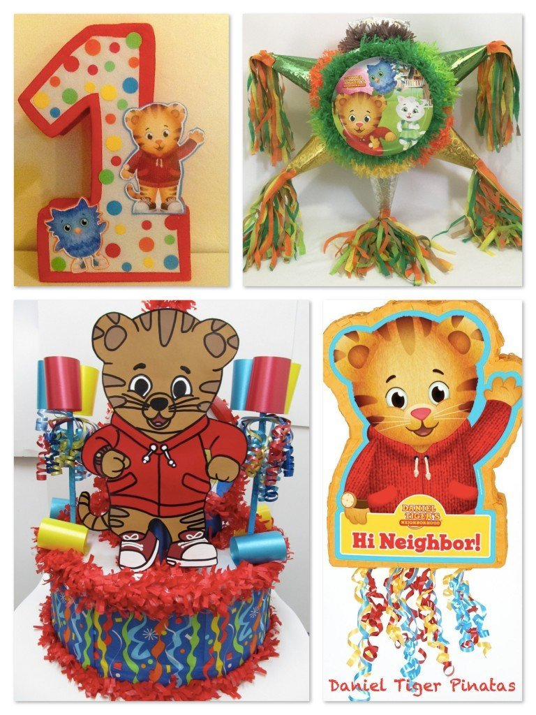 Daniel Tiger Birthday Party Pinatas