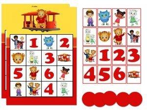 Daniel Tiger Printable Bingo