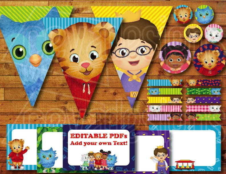 Daniel Tiger Birthday Party Printable Decor