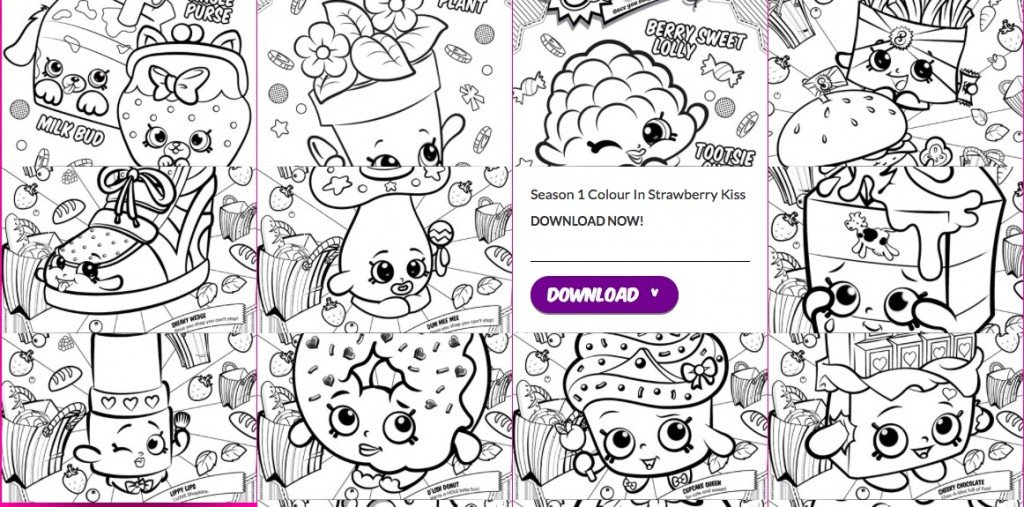 Free Shopkins Colouring Pages