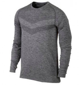 NIKE DRI - FIT KNIT LONG SLEEVE T - SHIRT