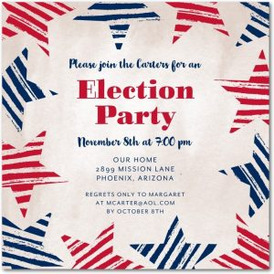 Patriotism Election Party Invitation