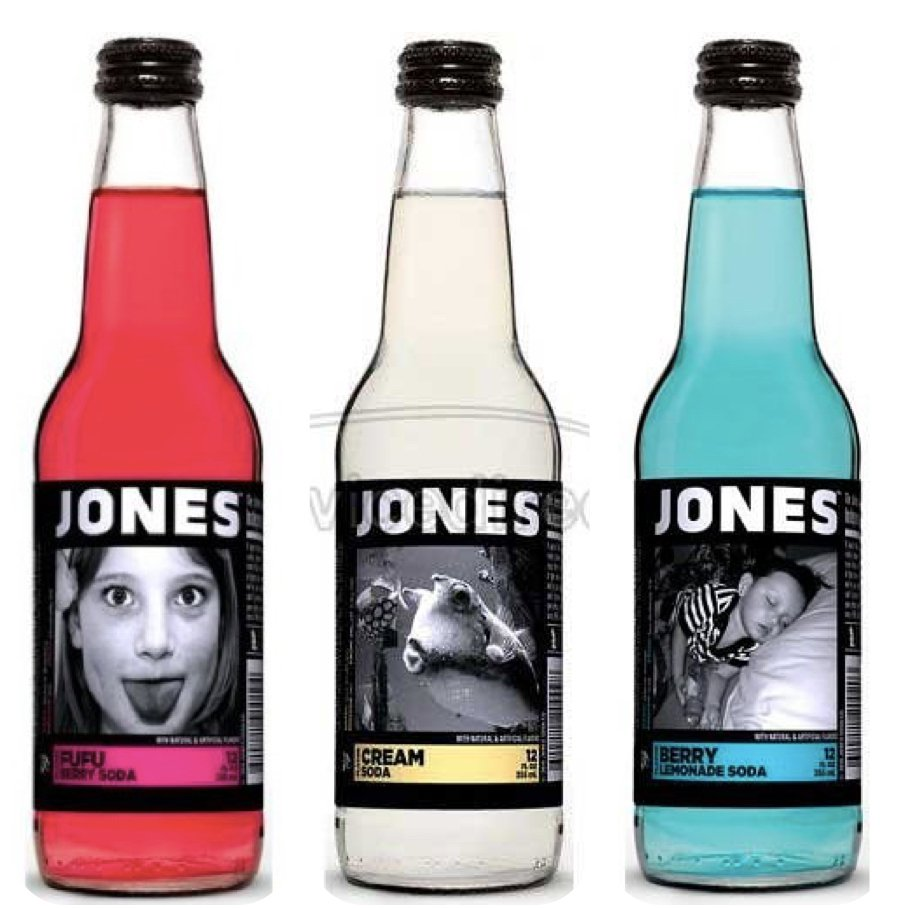 Red White Blue Jones Soda