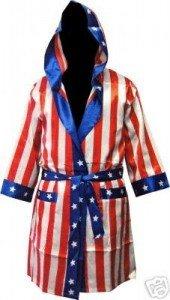 Rocky Blaboa Boxing American Flag Robe