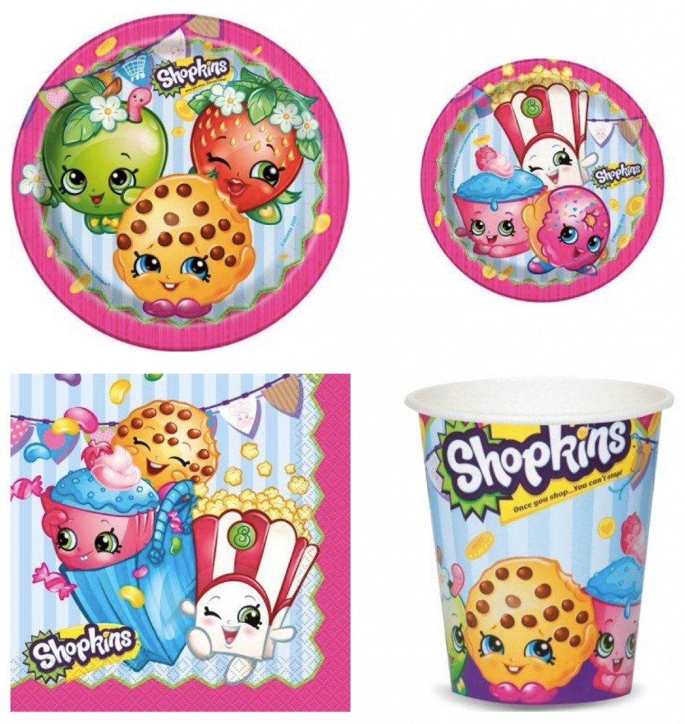 Shopkins Birthday Party Tableware