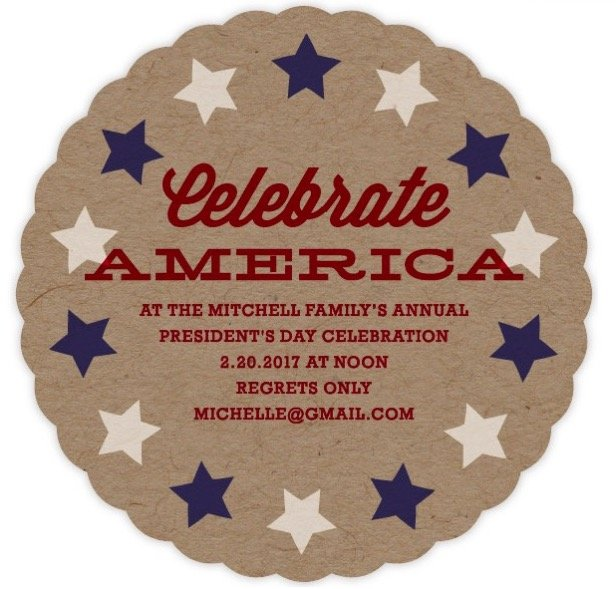 The Patriot Party Invitation