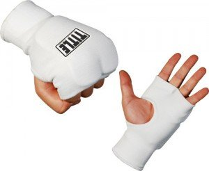 White Boxing Fist Guards