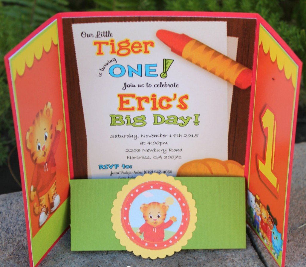 Daniel Tiger Birthday Party Invitation
